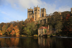 Riflessioni della cattedrale di Durham Fotografia Stock Libera da Diritti