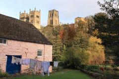 Riflessioni della cattedrale di Durham Fotografia Stock