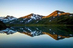 Riflessioni della montagna Immagine Stock