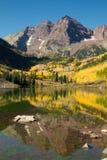 Riflessioni della montagna di Colorado Fotografie Stock