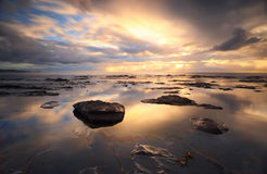Riflessioni di Collaroy ad alba Fotografia Stock