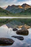 Riflessioni di estate di Blea il Tarn Fotografie Stock Libere da Diritti