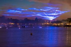 Riflessioni di illuminazioni di terra in Epcot a Walt Disney World Resort 2 fotografia stock libera da diritti