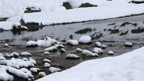 Riflessioni di inverno in acqua Fotografia Stock Libera da Diritti