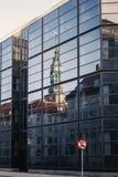 Riflessioni di vetro della costruzione Fotografie Stock