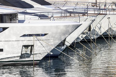 Riflessioni di Wather sulla barca Immagini Stock Libere da Diritti