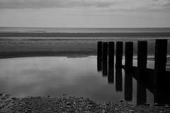 Riflessioni inglesi della costa Immagine Stock
