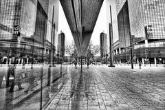 Riflessioni Rotterdam della stazione centrale Fotografia Stock