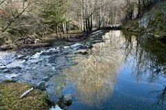 Riflessioni sopra il fiume Fotografie Stock Libere da Diritti