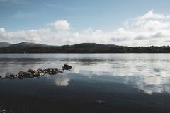Riflessioni sul lago fotografia stock