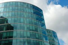 Riflessioni in un grattacielo Fotografia Stock