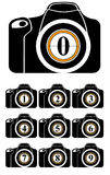 Riflesso con i numeri sull'obiettivo Fotografie Stock