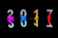 Rifletta del nuovo anno 2017 Fotografia Stock
