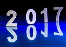 Rifletta del nuovo anno 2017 Immagine Stock