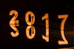 Rifletta del nuovo anno 2017 Fotografie Stock