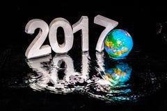 Rifletta del nuovo anno 2017 Fotografia Stock Libera da Diritti