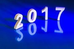 Rifletta del nuovo anno 2017 Immagini Stock