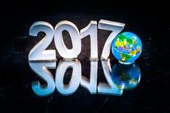 Rifletta del nuovo anno 2017 Fotografie Stock Libere da Diritti