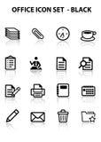 Rifletta l'insieme dell'icona dell'ufficio Immagini Stock