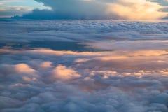 Rifletta la nuvola di luce solare Immagini Stock