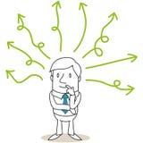 Riflettere le linee verde dell'uomo d'affari illustrazione di stock
