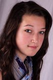 Riflettere ragazza teenager fotografie stock