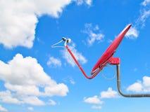 Riflettore parabolico rosso immagine stock