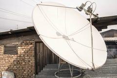 Riflettore parabolico sul tetto, bianco Fotografia Stock Libera da Diritti