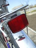 Riflettore posteriore della bicicletta Immagine Stock