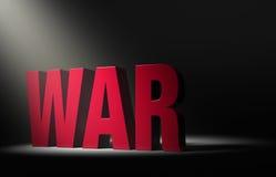 Riflettore sulla guerra Fotografia Stock Libera da Diritti