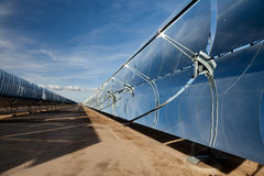 Riflettori di energia solare Fotografie Stock Libere da Diritti