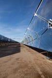 Riflettori di energia solare Fotografia Stock Libera da Diritti