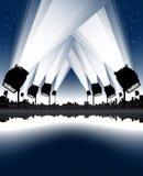 Riflettori di notte di celebrazione Immagini Stock Libere da Diritti