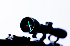 Riflle scope white background  Stock Image