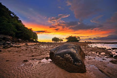 Riflusso di tramonto Fotografia Stock