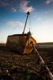 Riflusso incagliato della barca Immagine Stock