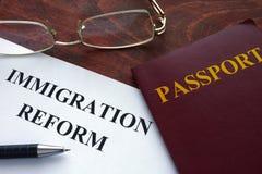 Riforma di immigrazione immagini stock