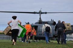 Rifornimenti dell'elicottero Fotografie Stock