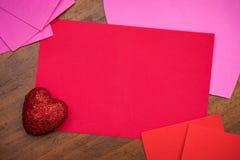 Rifornimenti della carta di giorno del ` s del biglietto di S. Valentino Fotografia Stock Libera da Diritti