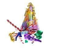 Rifornimenti della festa di compleanno Immagine Stock