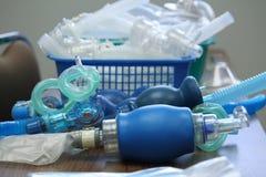 Rifornimenti di addestramento di CPR Fotografia Stock
