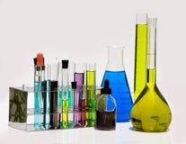 Rifornimenti di chimica dal laboratorio Fotografia Stock Libera da Diritti