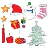 Rifornimenti di Natale Fotografie Stock