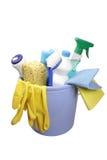 Rifornimenti di pulizia Fotografia Stock