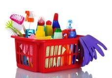 rifornimenti di pulizia Fotografie Stock