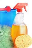 Rifornimenti di pulizia Fotografie Stock Libere da Diritti