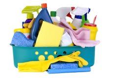 Rifornimenti di pulizia Fotografia Stock Libera da Diritti