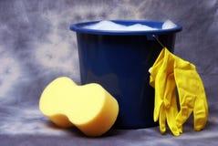 Rifornimenti di pulizia Immagine Stock Libera da Diritti