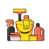 rifornimenti di pulizia illustrazione vettoriale