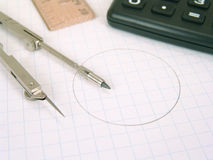 Rifornimenti matematici fotografia stock
